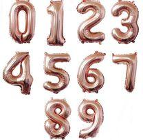 Цифра шар 80см для гелия и воздуха.(шарики,декор, фотозона,кенди бар)