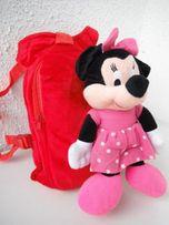 plecak myszka Minnie Miki czerwony z maskotką