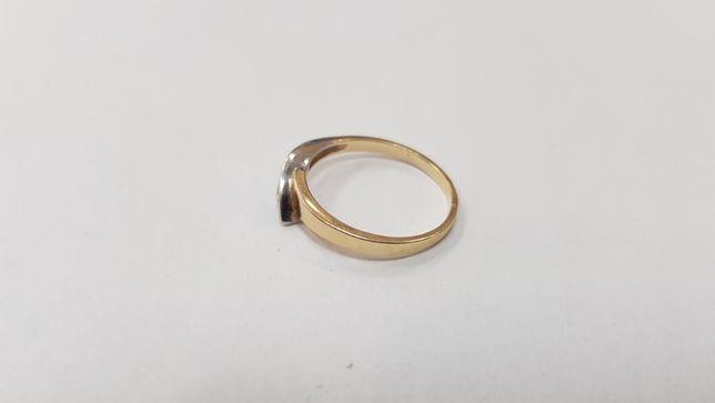 Piękny złoty pierścionek/ 585/ 2,19 gram/ R16/ sklep Gdynia/ Gdynia - image 3