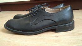 Черные кожаные туфли Marks&Spencer 43р.