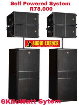 Hybrid + Speakers Linearray System