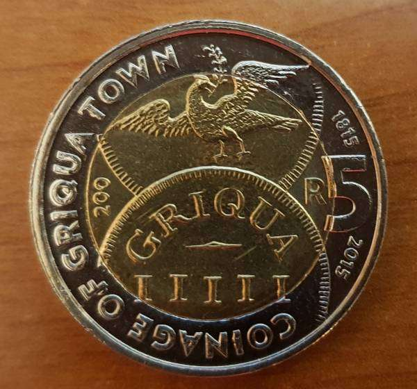 hi guys im selling my 5r coinage of griqua town 0