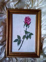 Вышивка. Картина в шикарной рамке для картин и фото - 350 грн.