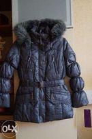 Зимнее пальто, пуховик, куртка для девочки,новое,опушка-песец, р.38-42