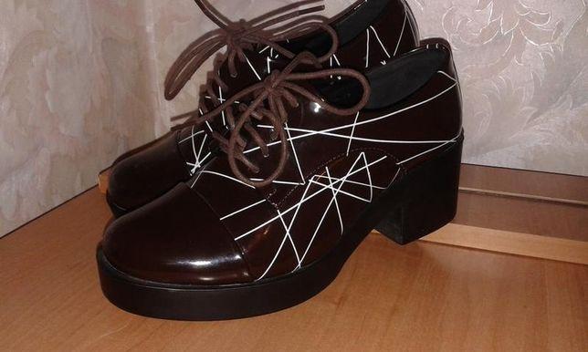 Модные лаковые ботинки Винница - изображение 2