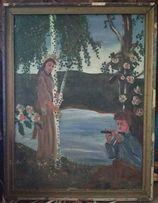 Продам старинную картину холст масло в раме