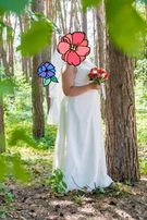 Плаття весільне. Колір айворі. 52-54р.