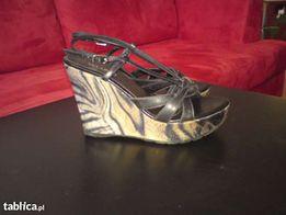 Buty sandały na koturnie włoskie śliczne rozm 37 OKAZJA