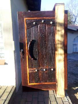 Railway Sleeper Pivot Door