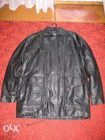 Мужская куртка из кожзама большого размера