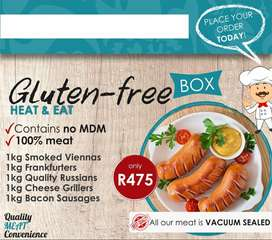 Meat Hampers and gluten free meat products for banting