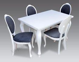 Stół rozkładany + 4 krzesła biały ZESTAW SOFIA SUPER OFERTA! SPRAWDŹ!