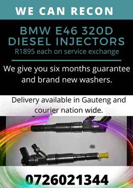 BMW E46 320D diesel injectors - reconditioning services