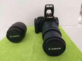Canon EOS 400D Digital camera, with twin lens and carry bag.
