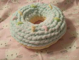 Акция Подушка донат пончик плюшевый зефирный ручная работа