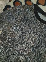 Dopasowana bawełniana ala złota skóra węża