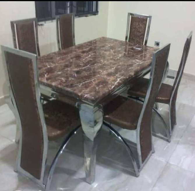 6 Sitter HOME DELIGHT MARBLE DINNING SET 0