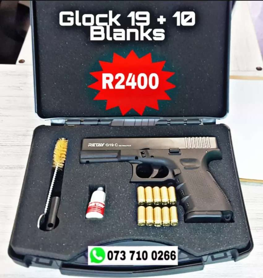 Blank Guns For sale South africa - Glock 19 + 10 Blank rounds 0