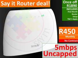 Say it router and sim only deals