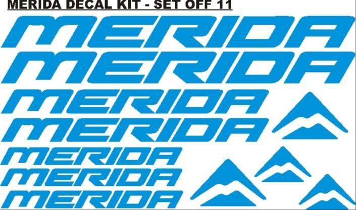 Merida frame and rim decals stickers graphics