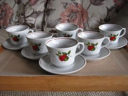Сервиз для чая из костяного фарфора новая посуда подарок 15 предметов