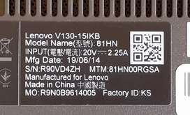 LENOVO V130-15IKB STRIPPING FOR PARTS, i5