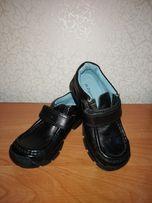 Кожаные туфли мокасины на мальчика размер 30, стелька 19 см