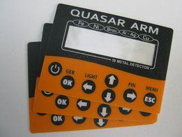 Наклейка на металлодетектор Quasar ARM