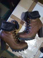 Полусапожки, ботильйоны, ботинки кожаные, 39-40(26см по стельк),дешево