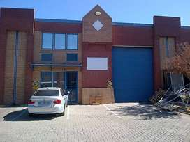 TO LET: 484 SQM INDUSTRIAL WAREHOUSE IN STRYDOMPARK, RANDBURG