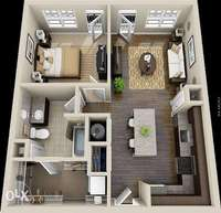 House plans and 3D models. 0