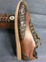 кроссовок stefano ricci из кожи крокодила