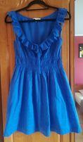 Sukienka hiszpanka chabrowa/ niebieska