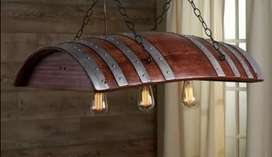 Wynfat ligte /wine barrel hanging light