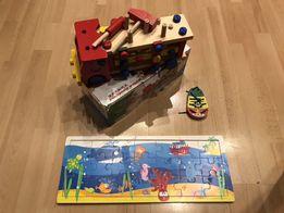 Zestaw drewnianych zabawek edukacyjnych