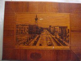 продам шкатулку деревяную с видом Запорожье 50-х годов