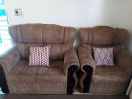 2×2seater couches and 2×1seater only pillows not included