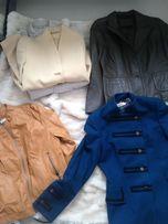 kurtka płaszcz skóra czarna zielona bezowa pikowana krótka nie zara 42
