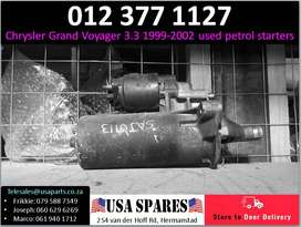 Chrysler Grand Voyager 3.3* 1999-02 used petrol starters for sale