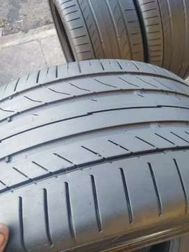 A set of tyres 225/45/17 and 245/40/17 continental run flat available