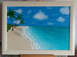 """Картина акрилом """"Мечта о Мальдивах"""""""