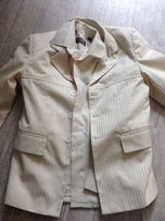 костюм тройка и рубашка на выпускной 122-128 см
