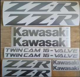 1995 Kawasaki ZZR Twincam decals stickers graphics kits