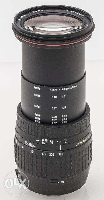 Sigma 28-300mm F3.5-6.3 DL Aspherical IF Hyperzoom for CANON camera 0