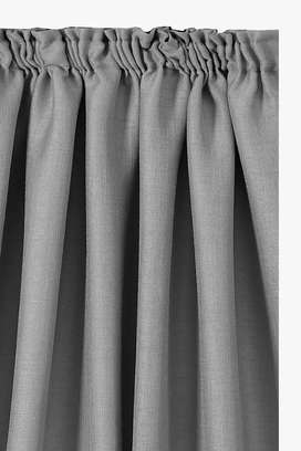 Charcoal Crepe Voile Lined Taped Curtain x 3 Drops (230x250cm)