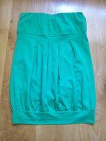 zielona bluzka bez ramiączek