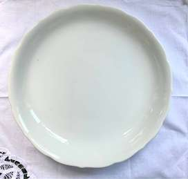 White Plain Round Dish