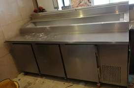 3 door 19 insert underbar prep fridge