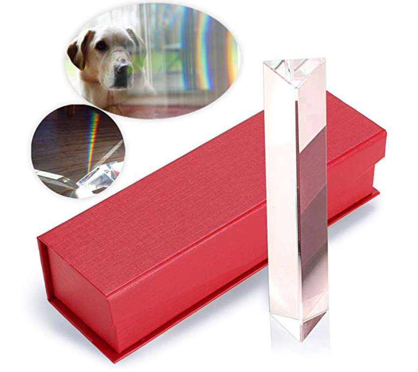 """6""""/150mm Crystal Optical Glass Triangular Prism glass for Photography 0"""