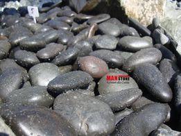 Otoczak Polerowany Czarny, Kamień Dekoracyjny, 20 kg